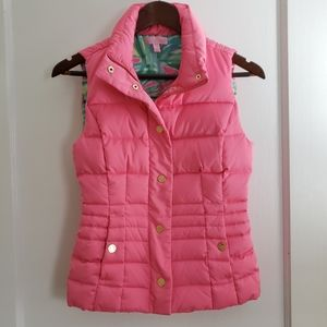 Lilly Pulitzer| XXS Isabelle puffer vest tropica